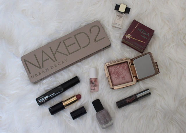 Naked 2 pallet. Hourglass moonstone, maybelline, estee lauder, benefit high beam, kiko