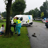 Aanrijding Turfweg 17 augustus 2015 - Foto's Otto Kerbof en Teunis Streunding