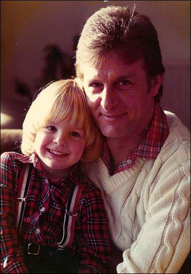 старое фото маленького Дженсона Баттона с отцом Джоном