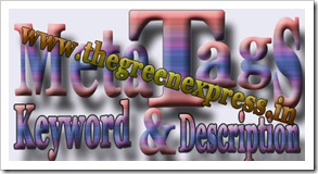 Meta Tags Keyword and Description for blogger blogs or website