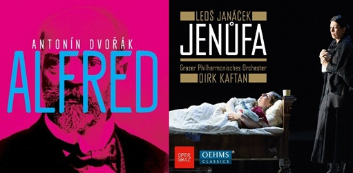 CD REVIEW: Antonín Dvořák's ALFRED on Arco Diva (UP 0140-2 612) and Leoš Janáček's JENŮFA on Oehms Classics (OC 962)