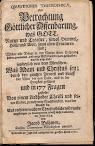 Quaestiones Theosophicae Oder Betrachtung Gottlicher Offenbarung (1730,in German)