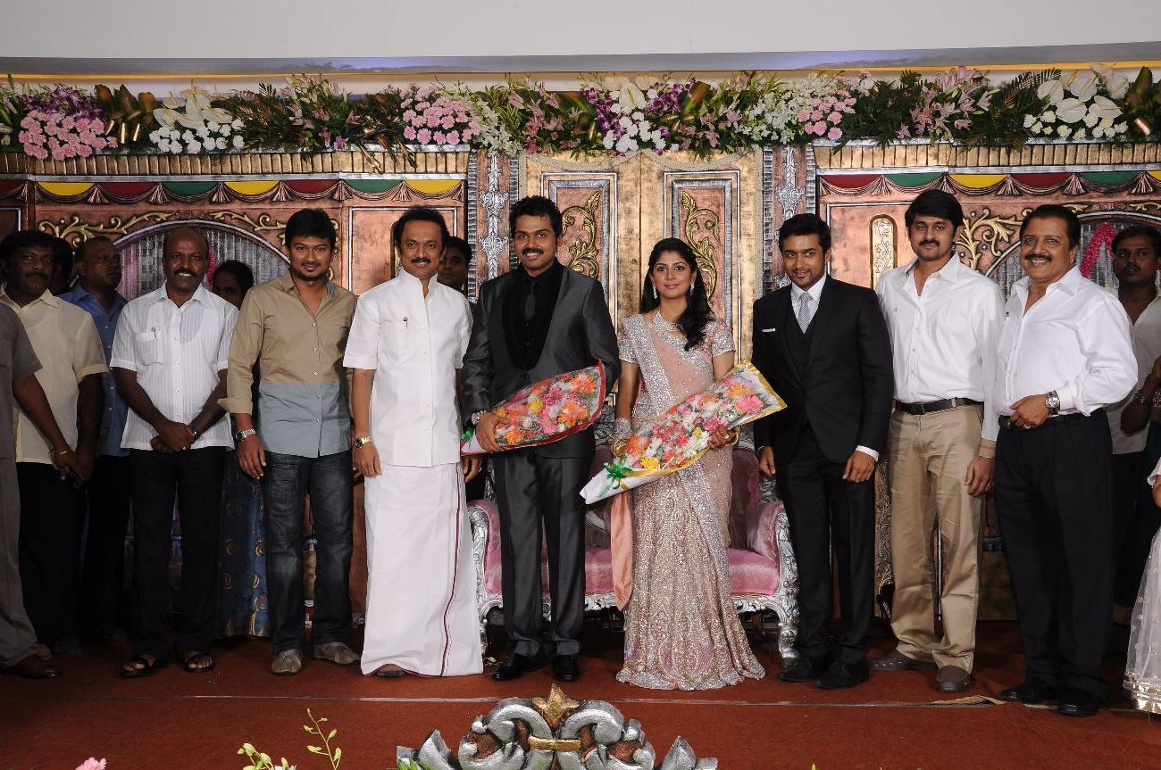 The wedding reception of Karthi Sivakumar and Ranjini - more photos