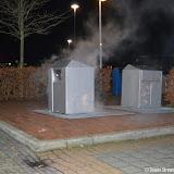 Containerbrand op parkeerplaats Helling Oude Pekela - Foto's Teunis Streunding