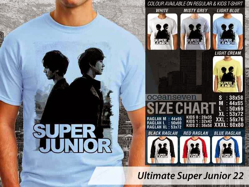 Kaos K Pop SUJU Ultimate Super Junior 22 Boy Band Asal Korea distro ocean seven