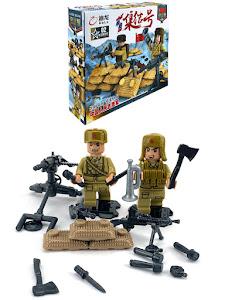 """Конструктор серии """"Brick Battle"""", солдат пулеметчик 1"""