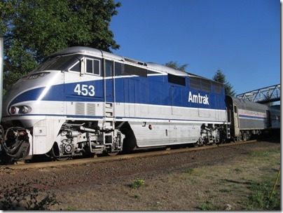 IMG_8873 Amtrak F59PHI #453 in Salem, Oregon on August 27, 2007