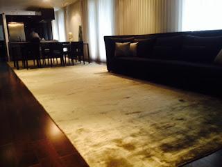 Bamboo silk rugs for villas, penthouse