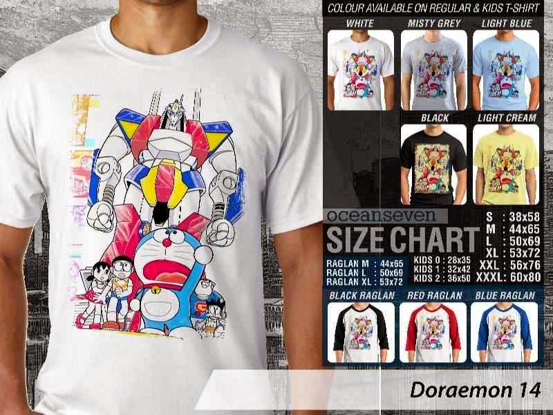 KAOS Doraemon 14 Manga Lucu distro ocean seven