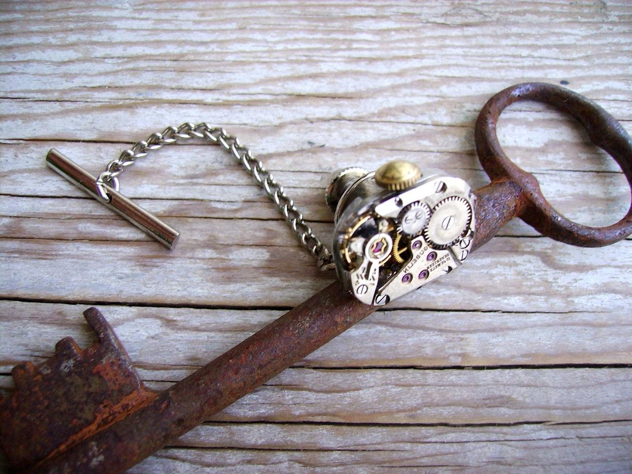 Steampunk Wedding Tie Tack