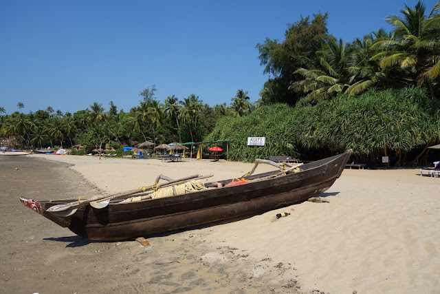 A local fishing boat on Patnem Beach.