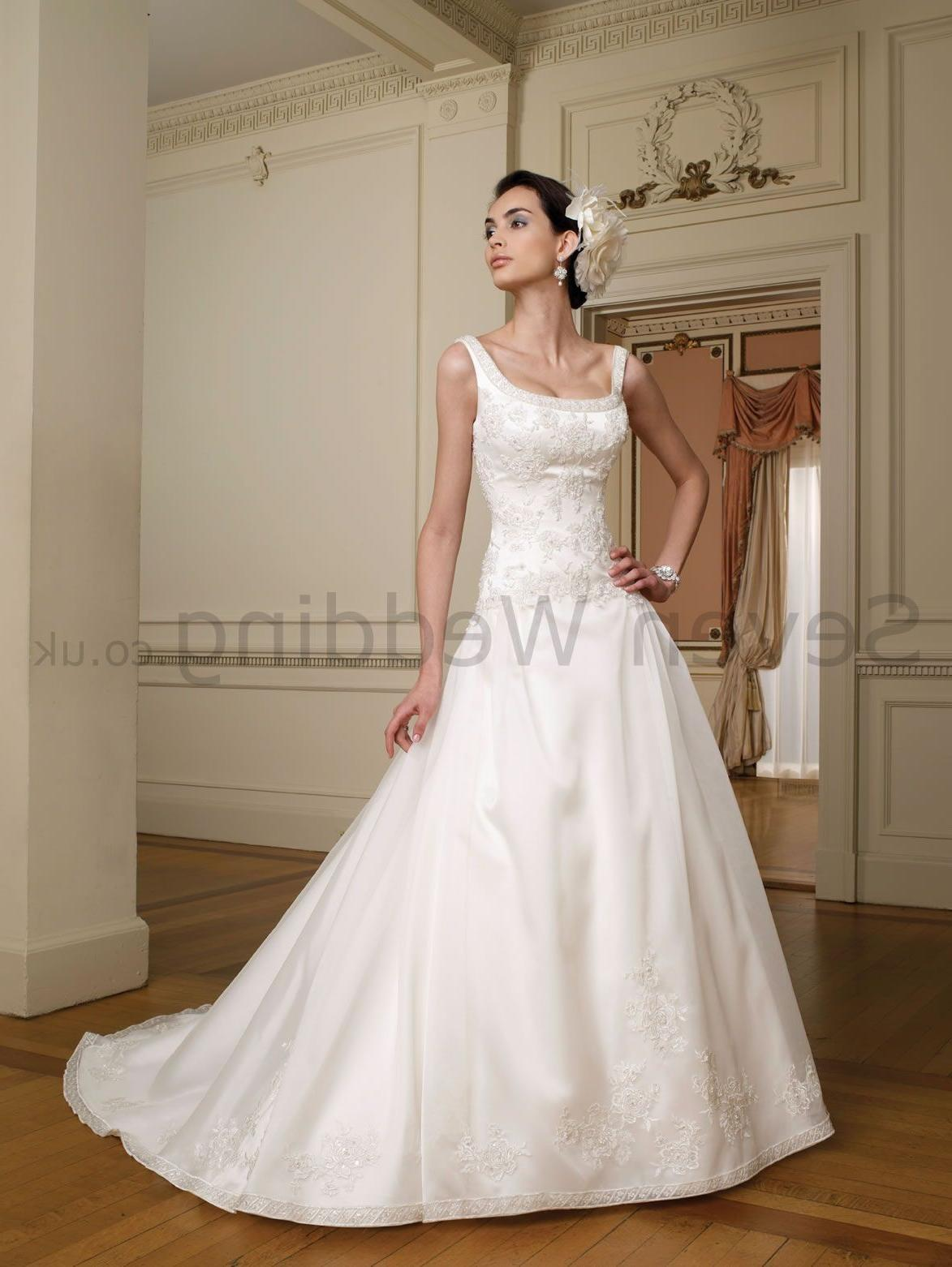 Organza Ball Gown Scoop