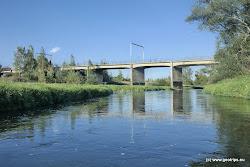 Železniční most k bývalému lomu - dnes jezeru Medard.