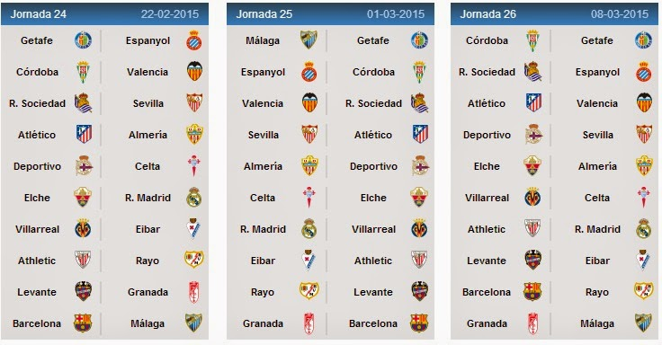 Spanish league fixtures 2014 15 la liga schedule - Point table of spanish la liga ...