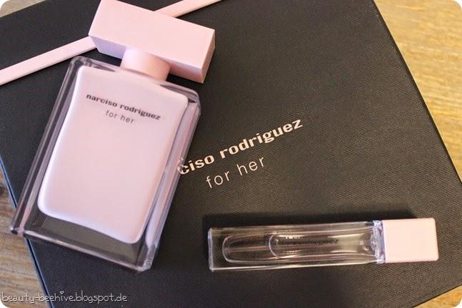 Narciso Rodriguez for her Set Eau de Parfum EdP Purse Spray 50ml 10ml Review Testbericht Test easyCOSMETIC Parfüm Parfum Outlet Online Shop