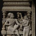Panneau provenant du décor d'une porte. Tamil Nadu. Epoque nayak, 17e s. Ivoire. MA 5014.