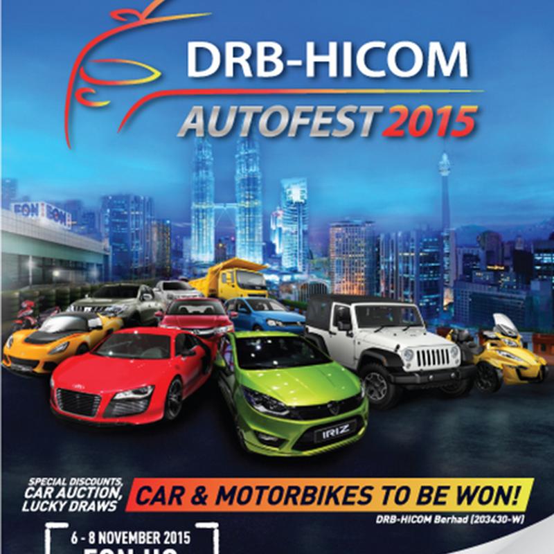 Jom ke DRB-HICOM AUTOFEST 2015 !