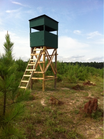 a time to hunt stand up 4x6 deer stand