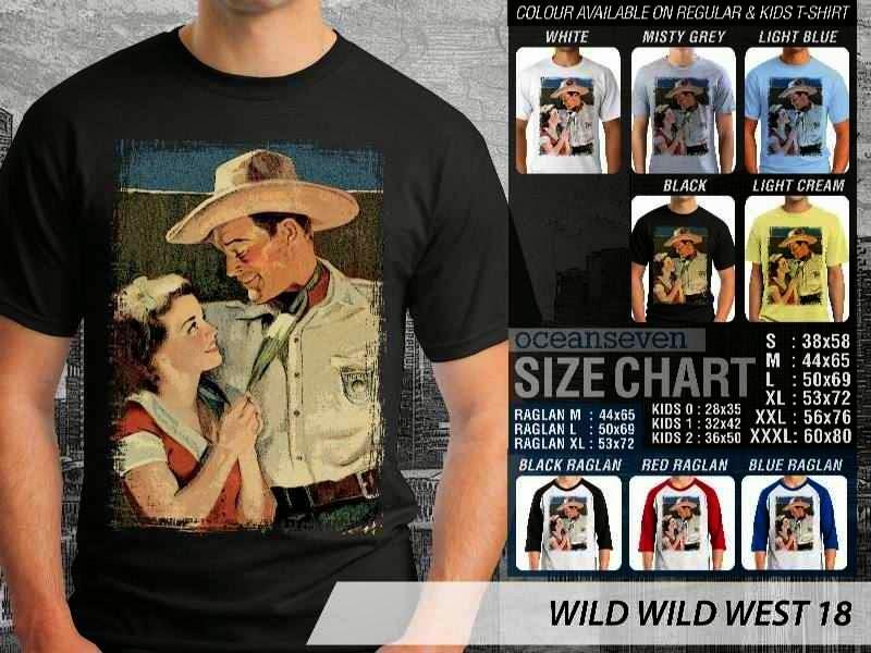 Kaos Cowboy Americana 18 Wild West distro ocean seven