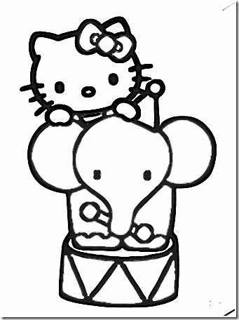 hello kitty circo blogcolorear (4)