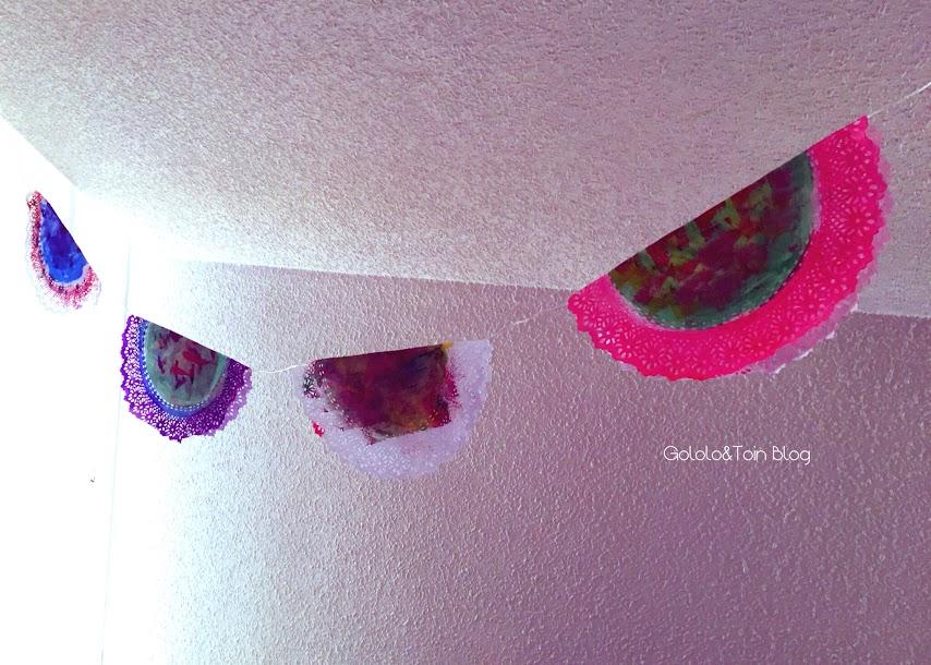 blondas-guirnaldas-diy-manualidades-niños-decoracion-fiesta