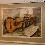 'Bodegón con guitarra' de Mª Luisa Romero. Acuarela