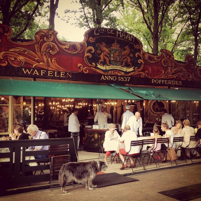 Poffertjes restaurant in Dutch suburbia