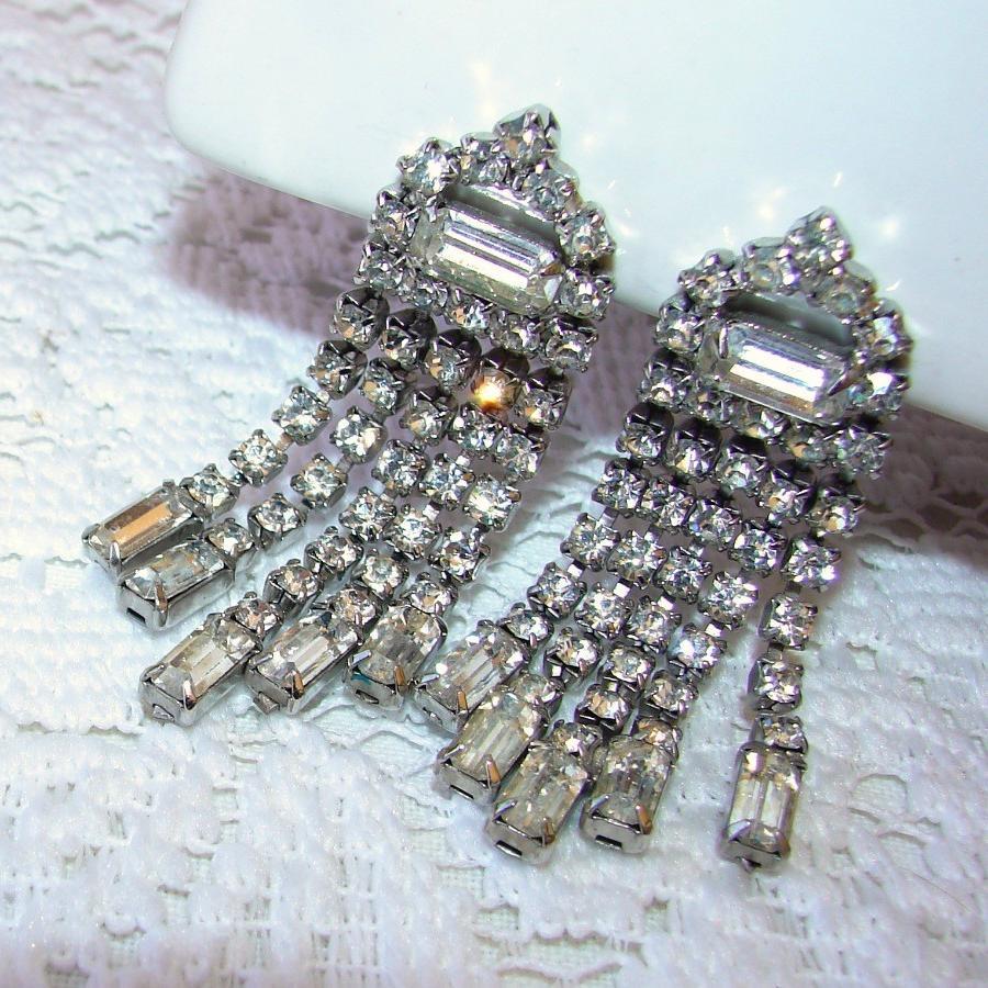 Black Friday Etsy SALE 20  ... Bridal Earrings Jewelry Vintage 1950s