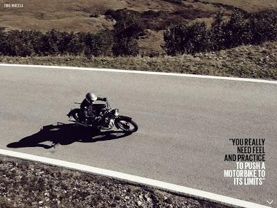 Себастьян Феттель на классическом мотоцикле - из журнала The Red Bulletin November 2013
