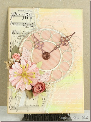 shabby clock card
