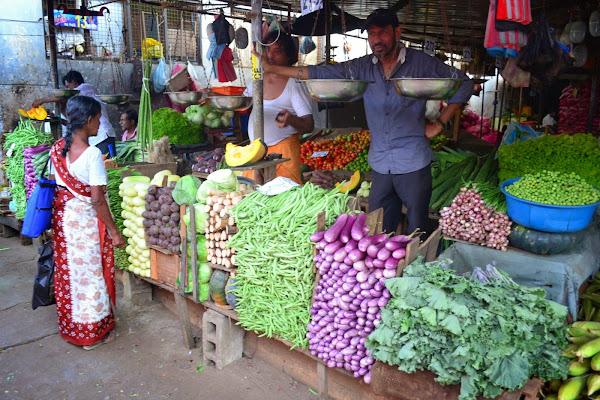 рынок, овощи, базар, шри-ланка