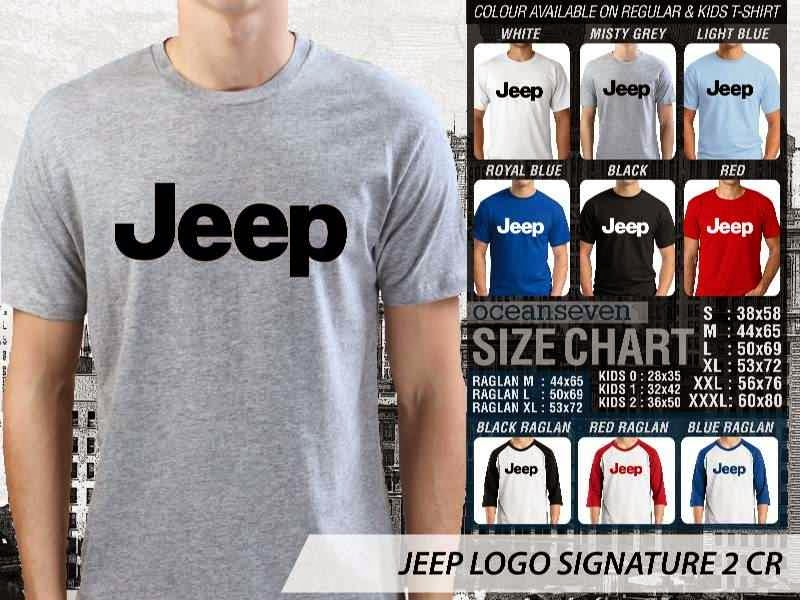 jual kaos jeep Logo Signature 2 distro