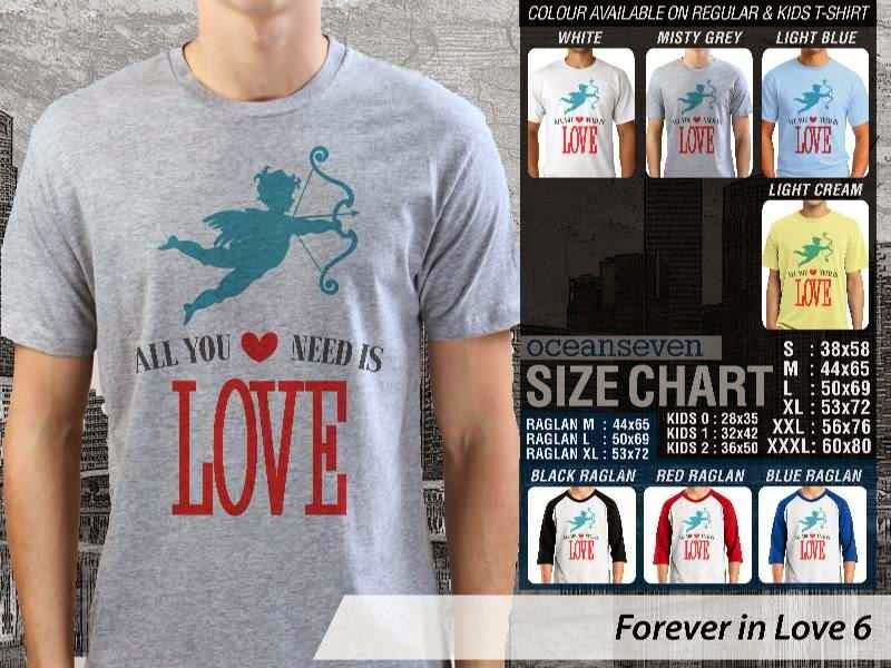 KAOS Serasi All you need is love |KAOS Forever in Love 6 distro ocean seven