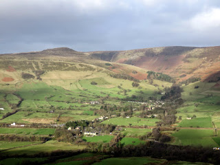 The Kinder Edges With Edale Below
