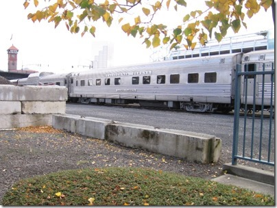 IMG_9791 California Zephyr 10-6 Sleeping Car #8449 Silver Rapids at Union Station in Portland, Oregon on October 21, 2009