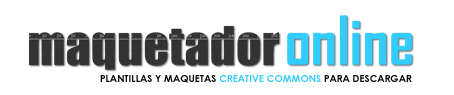 maquetador online, downloadable templates and layouts creative commons license