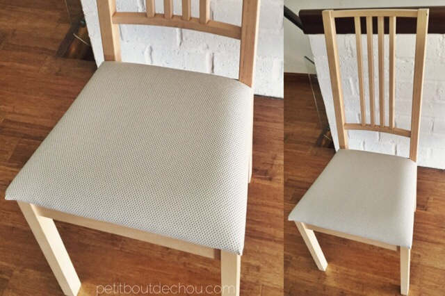 DIY ikea chair makeover - new fabric