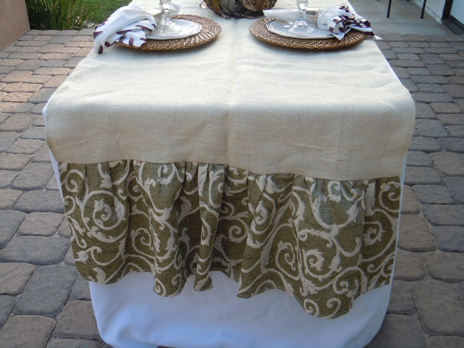 Extra Wide Burlap Table Runners Designs