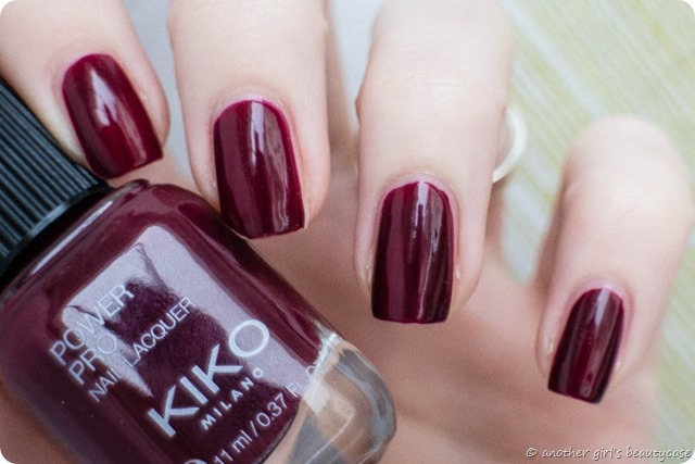 LFB Bprdeaux Oxblood KIKO Power Pro 47 Sangria Swatch-2