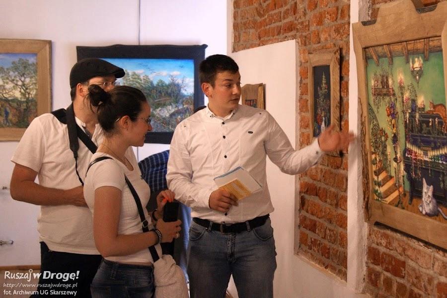 Zwiedzamy ekspozycje w Zamku Joannitów w Skarszewach