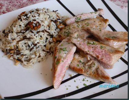 secreto ibérico con salteado de arroz salvaje5 copia