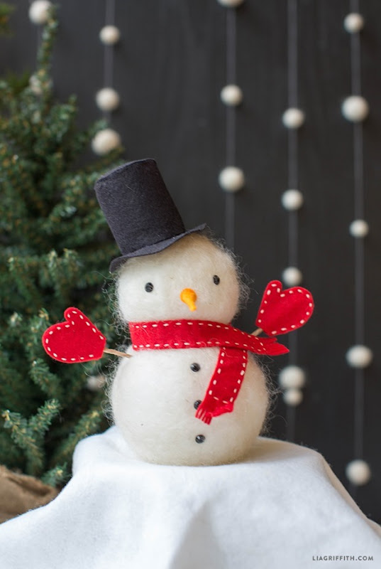 Foam_Snowman_Felted_Wool