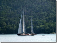 Big Beautiful Sailboat on Somes Sound