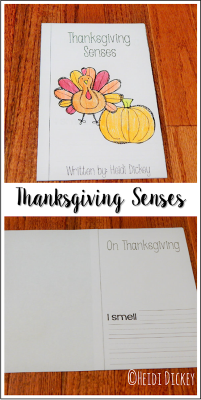 Thanksgiving Senses Activity Book