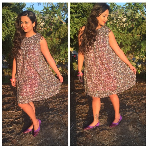 street shopping, Colaba Causeway Mumbai, floral dress, grey dress, summer dress, ananya kiran, fashion blogger