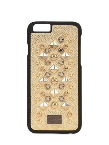 Dolce & Gabbana gold studded laminated leather iPhone 6 case, exclusive to LUISVAROMA.COM