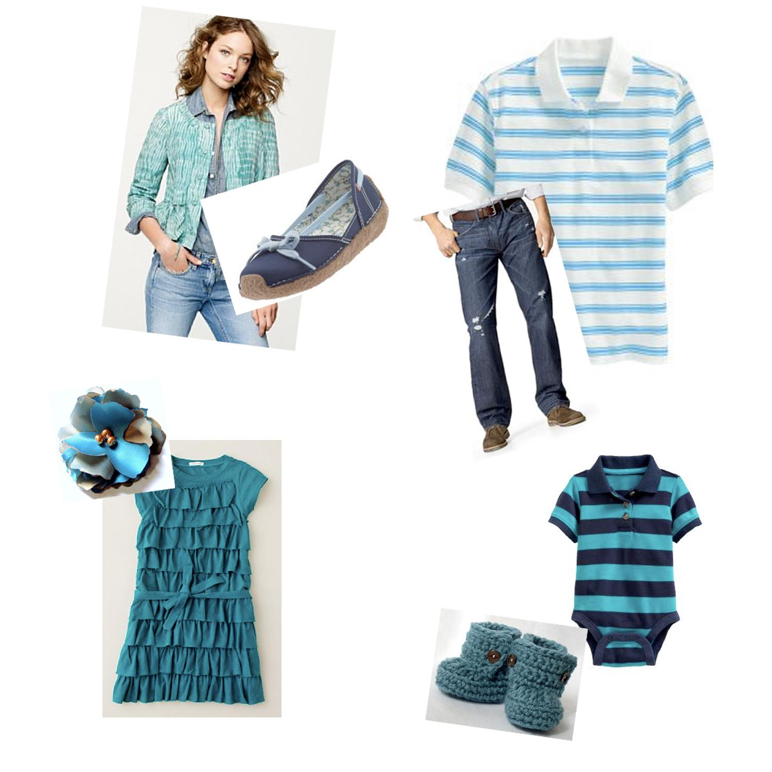 Here I chose denim, teal and