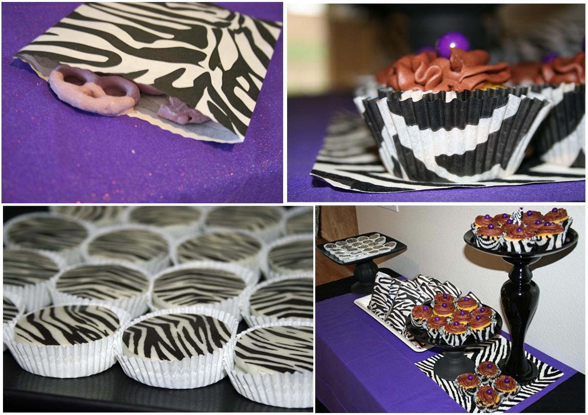 Purple plates and zebra