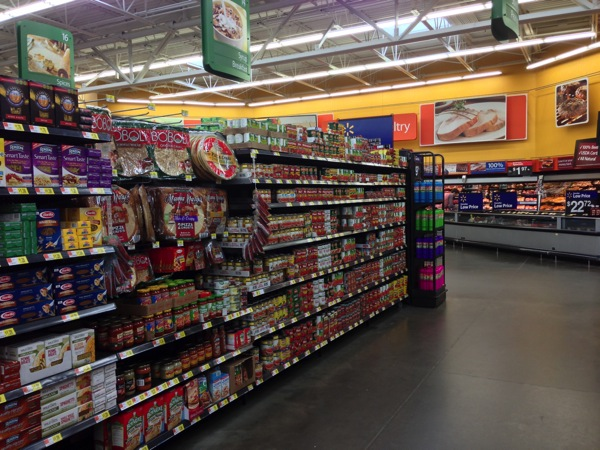 Locating Hunts Tomatoes in Walmart