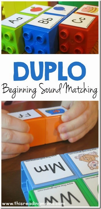 Beginning sound matching lego game - Fun educational activity for Preschool, Kindergarten, and 1st Grade
